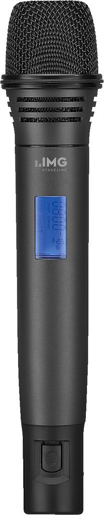 IMG STAGELINE TXS-606HT Handmikrofon mit integriertem Multi-Frequenz-Sender, 672,000-691,975 MHz