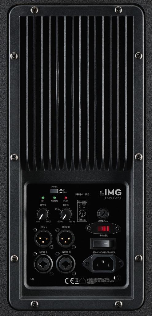 IMG STAGELINE PSUB-418AK Aktiver Power PA-Subwoofer, 1000 W