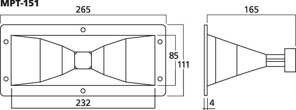 MONACOR MPT-151 Hochtonhorn