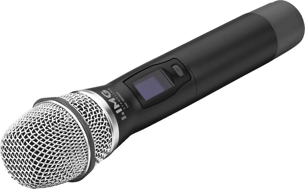 IMG STAGELINE TXS-1800HT Handmikrofon mit integriertem Multi-Frequenz-Sender, 1,8 GHz