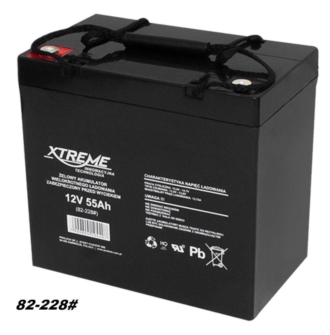 AGM-Batterie 12V 55Ah  von XTREME – Markenware