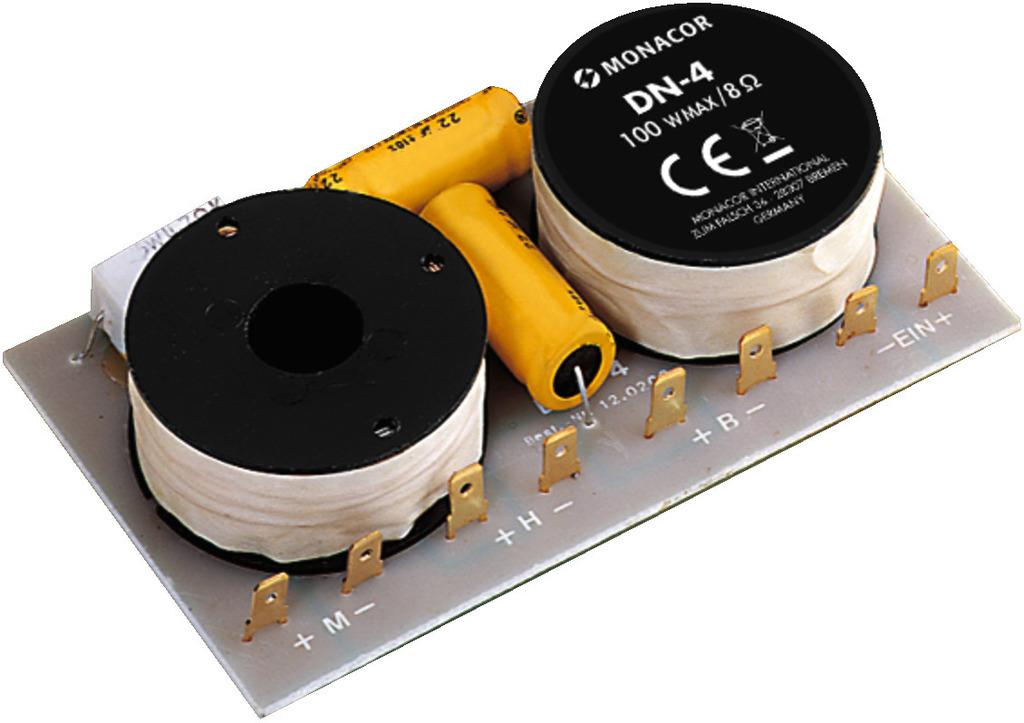 MONACOR DN-4 3-Wege-Weiche für 8 Ω