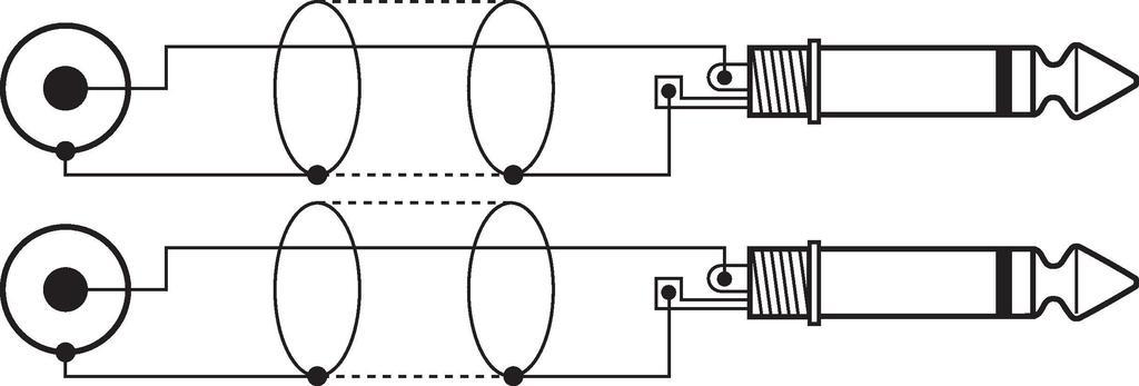 MONACOR MCA-304 Audio-Verbindungskabel, 3 m