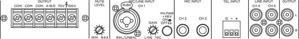 MONACOR PA-324 ELA-Mono-Mischverstärker