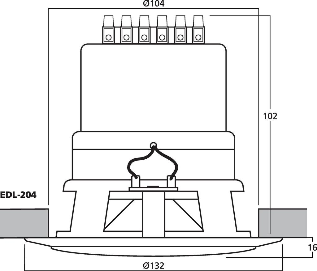 MONACOR EDL-204 Wetterfester ELA-Einbaulautsprecher