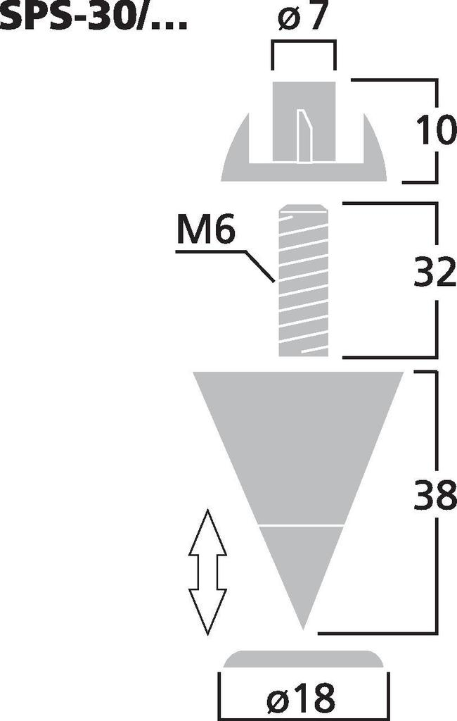 MONACOR SPS-30/SC LS-Spike-Set (4er)