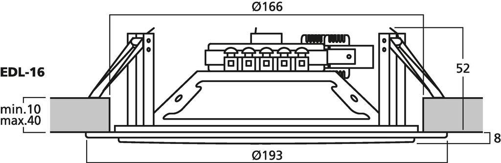 """MONACOR EDL-16 ELA-Deckenlautsprecher, 15 cm (6"""")"""