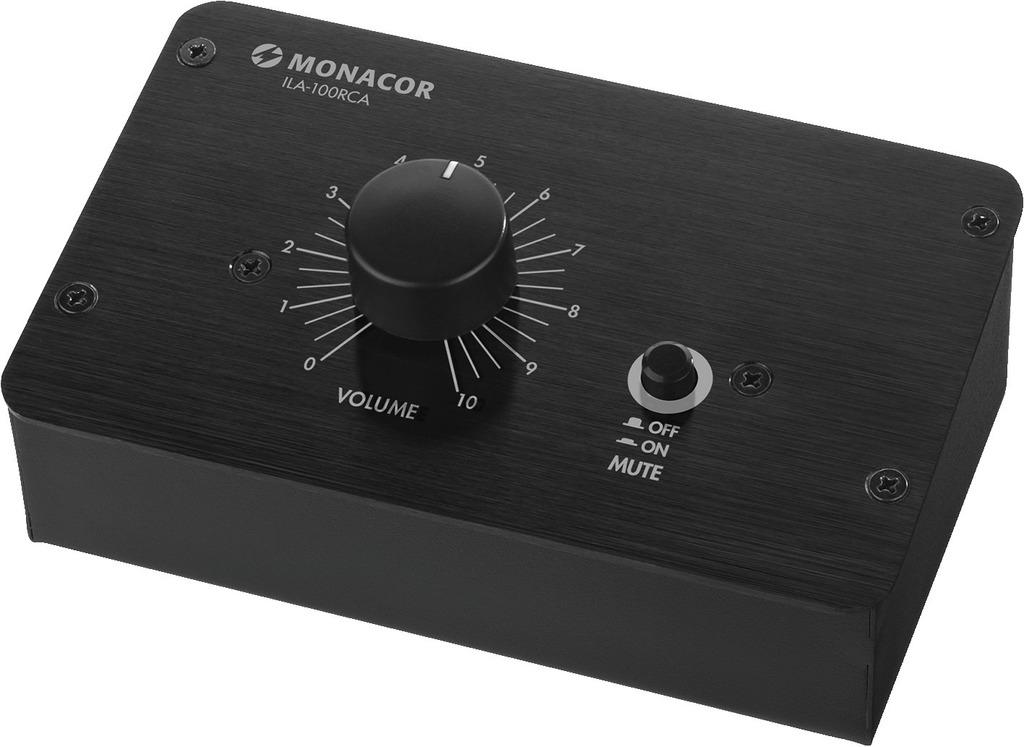 MONACOR ILA-100RCA Passiver Stereo-Pegelregler (Cinch-Version)