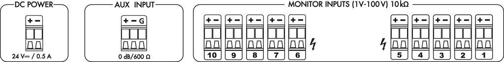 MONACOR PA-1200M Monitoreinheit, 10 + 1 Kanäle