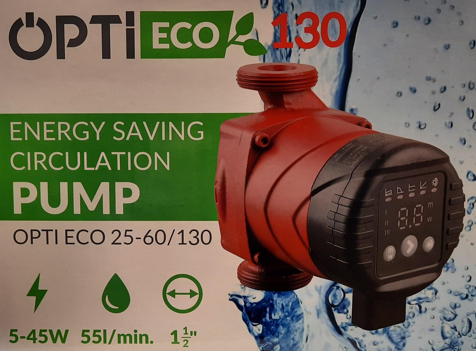 Opti ECO 25-60/130 Hocheffiziente Zirkulationspumpe Umwälzpumpe Heizungspumpe