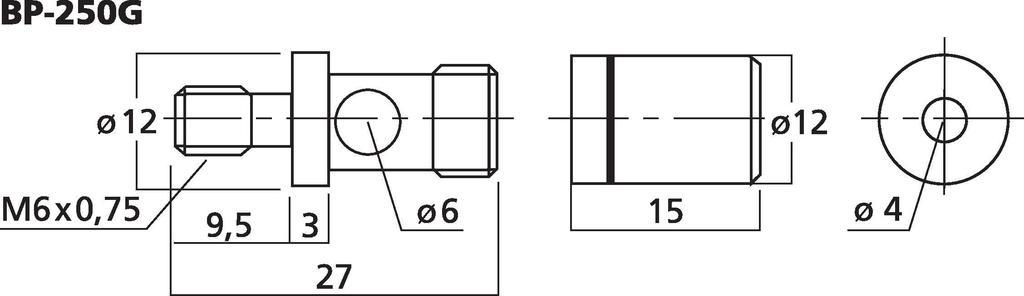 MONACOR BP-250G LS-Polklemmen-Paar