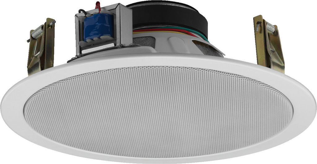 MONACOR EDL-10TW/WS ELA-Deckenlautsprecher, 100 V, weiß