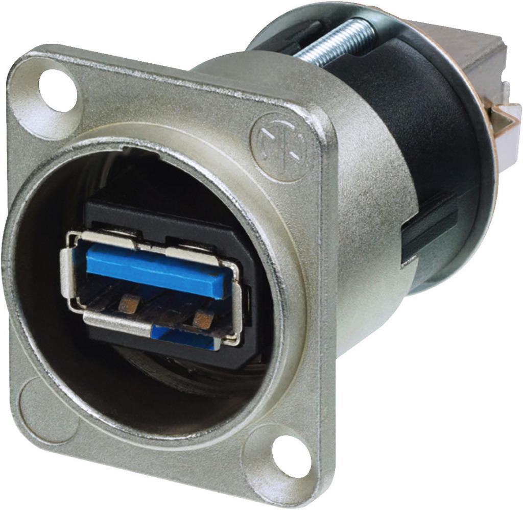 MONACOR NAUSB-3 USB-3.0-Durchgangs-Einbaubuchse