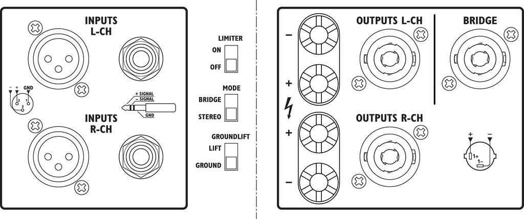 IMG STAGELINE STA-235 Stereo-PA-Verstärker, 1400 W