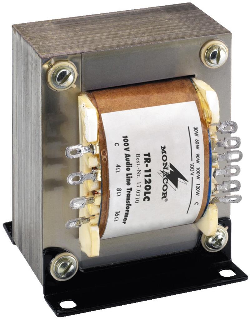 MONACOR TR-1120LC 100-V-Leistungs-Audio-Transformator, 120 W