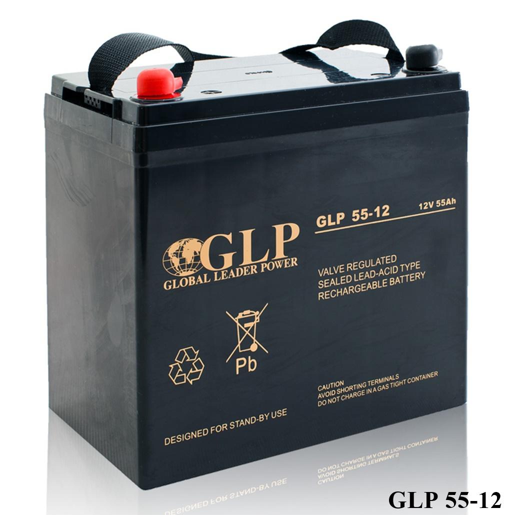 GLP AGM GEL Deep Cycle Akku VRLA 12V 55Ah