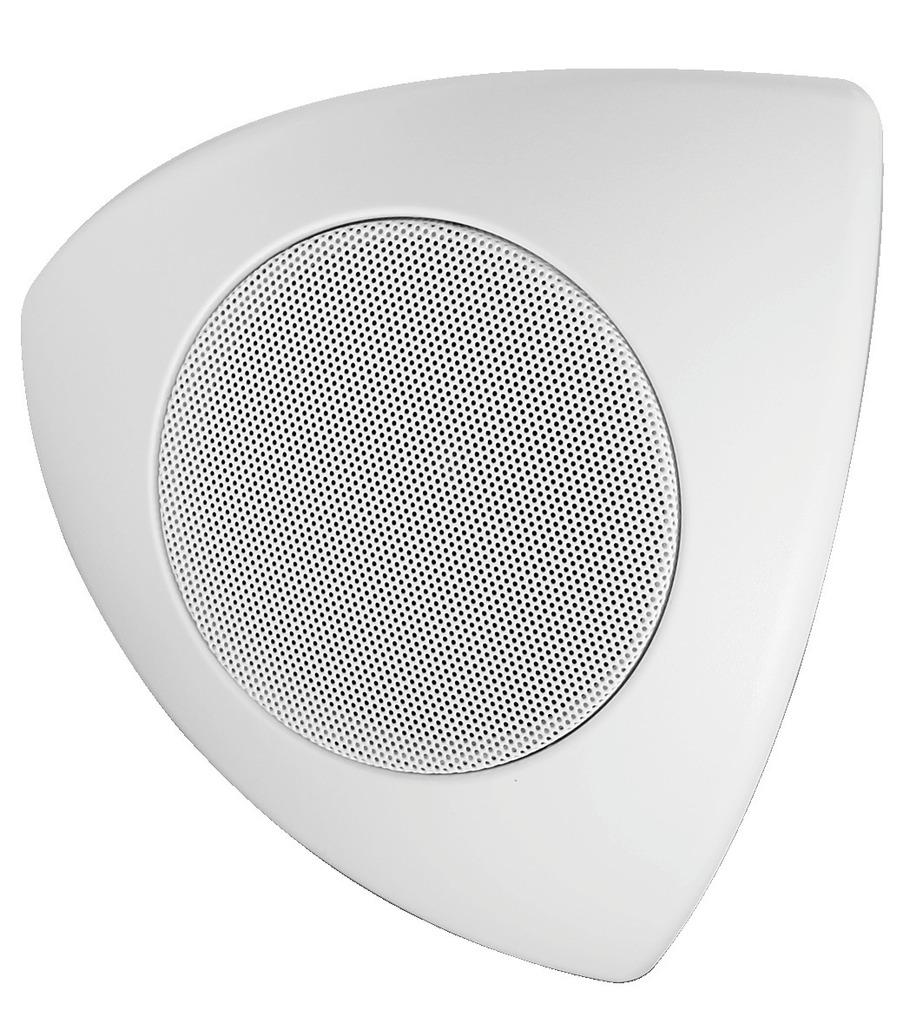 MONACOR MKS-48/WS Wand-, Decken- und Eck-Lautsprecherboxen-Paar, 15 W, 8 Ω
