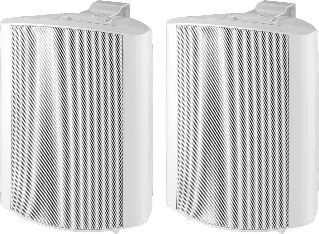MONACOR MKS-64/WS 2-Wege-Lautsprecherboxen-Paar, 60 W, 4 Ω