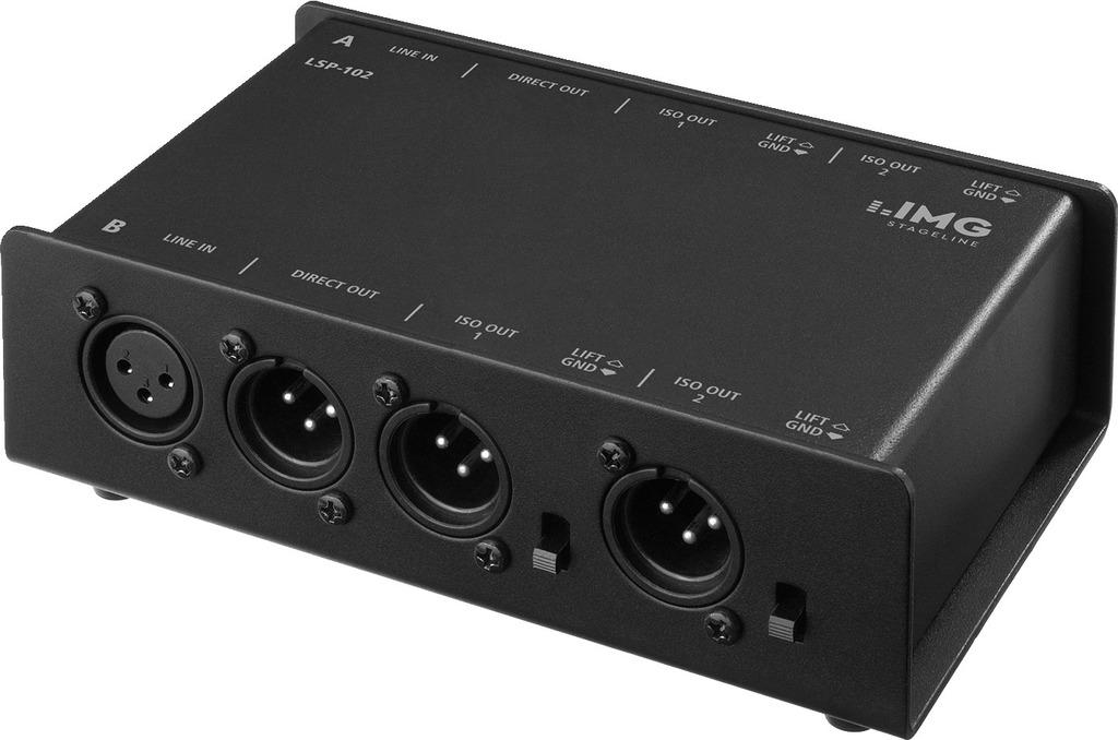 IMG STAGELINE LSP-102 2-Kanal-3-fach-Line-Splitter