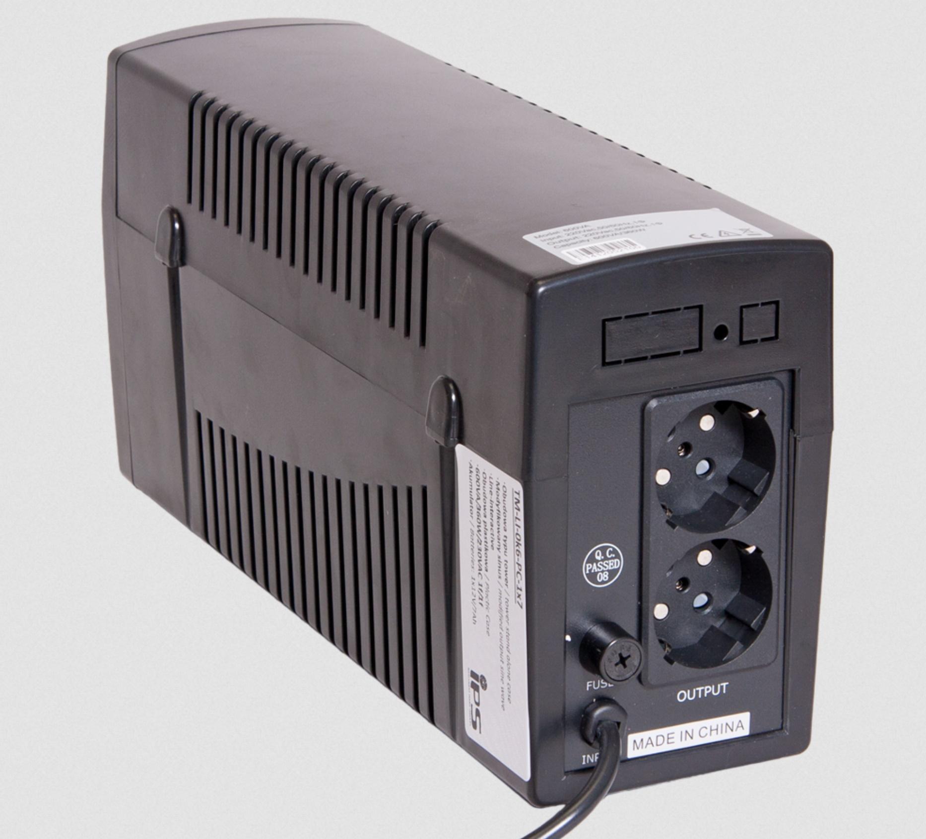 Unterbrechungsfreie Stromversorgung IPS TM-LI-0k6-PC-1×7 inklusive eingebauter Batterie