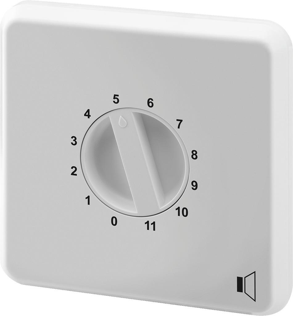 MONACOR ATT-2100H/WS ELA-Einbau-Lautstärkesteller, 100 W