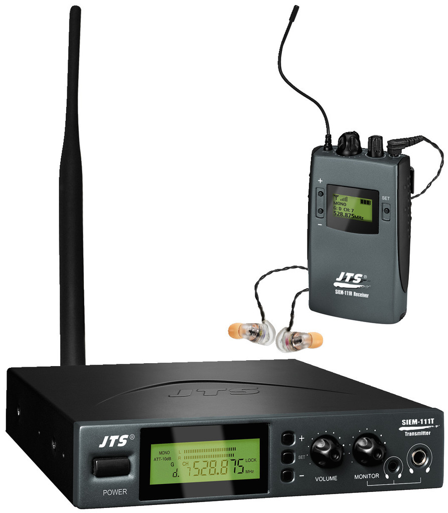 JTS SIEM-111/5 MPX-Stereo-UHF-PLL-In-Ear-Monitoring-System