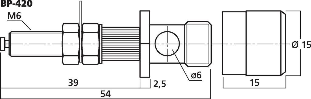 MONACOR BP-420 LS-Polklemmen-Paar