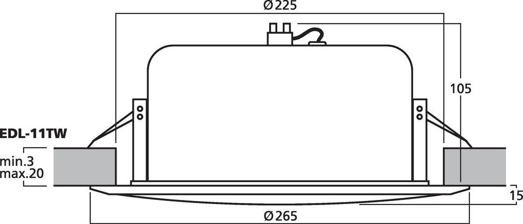 MONACOR EDL-11TW ELA-Deckenlautsprecher