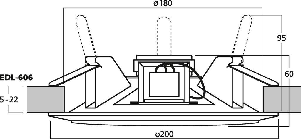 MONACOR EDL-606 ELA-Deckenlautsprecher