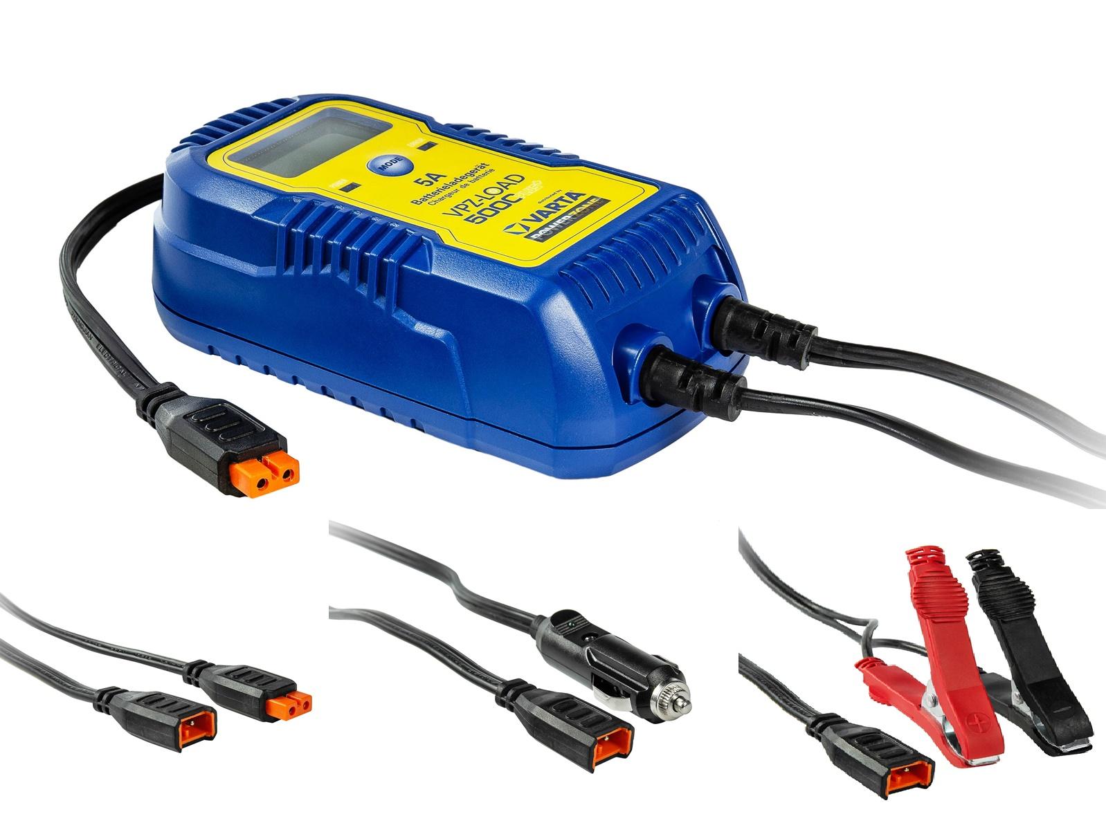Varta VPZ-5000-Plus 6V und 12V Ladegerät für Motorrad und Auto 5 A
