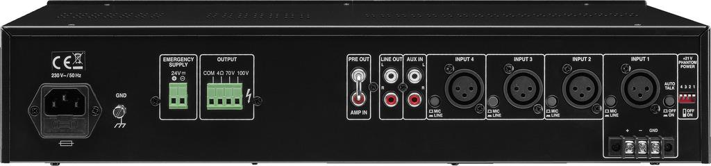 MONACOR PA-900 ELA-Mono-Mischverstärker