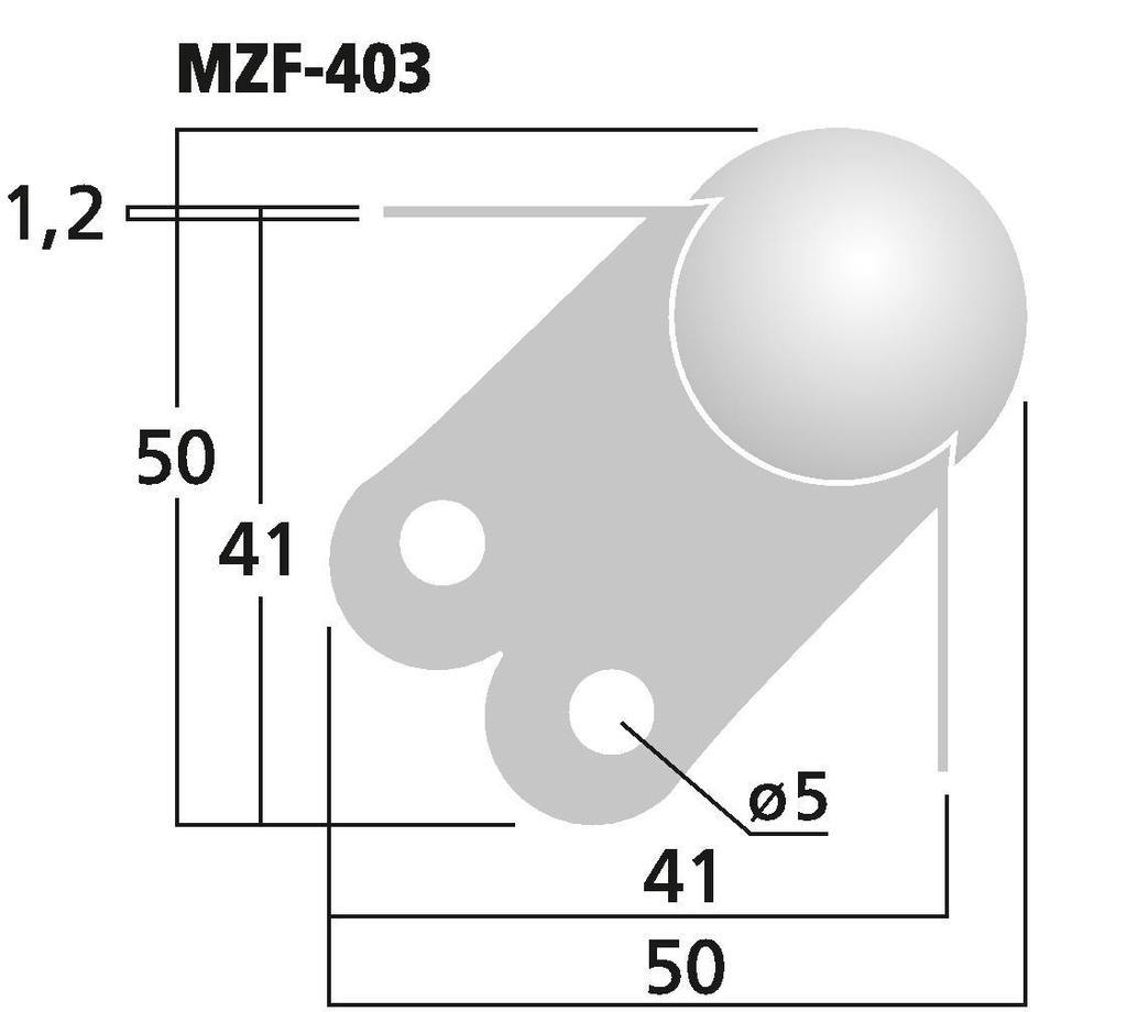 MONACOR MZF-403 LS-Metallecke