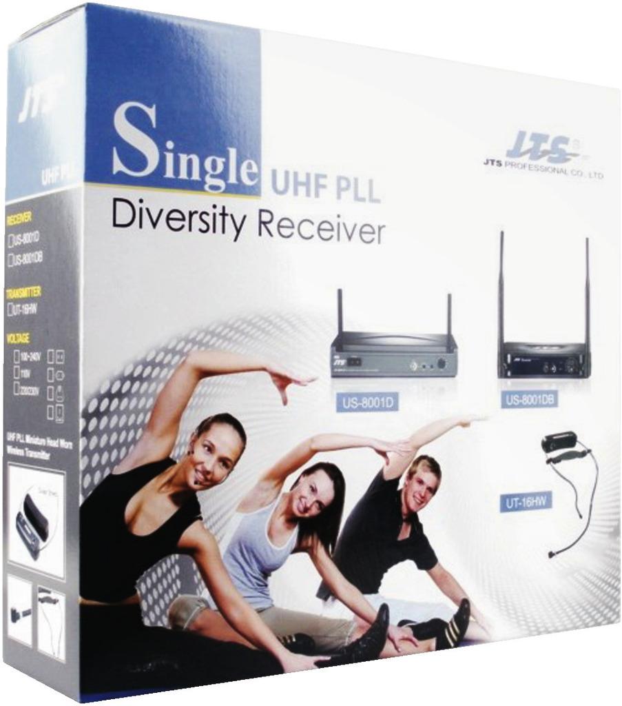 JTS US-8001DBGY/5 UHF-PLL-Audio-Übertragungsset