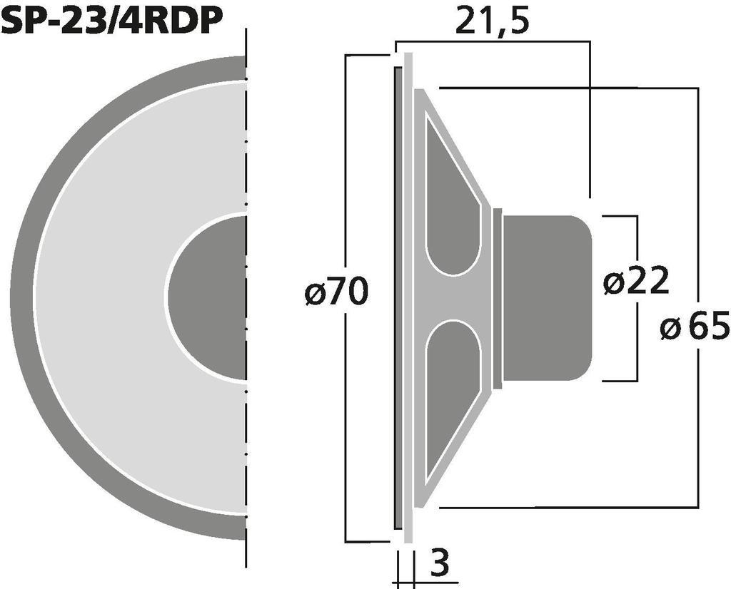 MONACOR SP-23/4RDP Miniatur-Einbaulautsprecher, 8 Ω