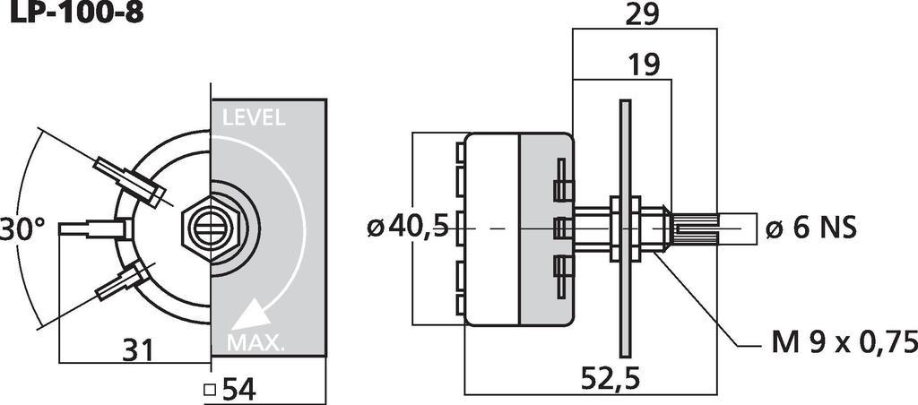 MONACOR LP-100-8 L-Regler, mono