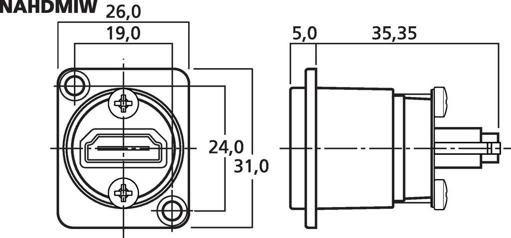 MONACOR NAHDMIW HDMI™-Durchgangs-Einbaubuchse