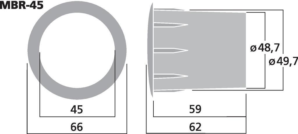 MONACOR MBR-45 Bassreflexrohr SV=15,9 cm2