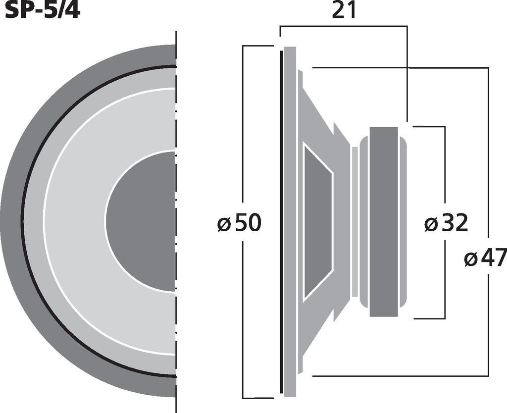 MONACOR SP-5/4 Universallautsprecher, 2 W, 4 Ω