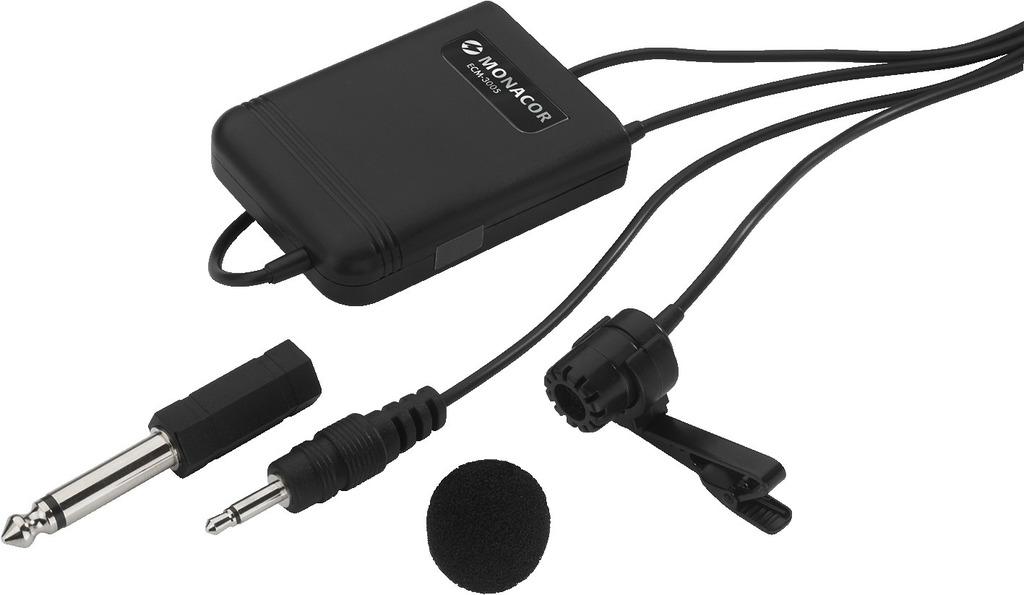 MONACOR ECM-3005 Elektret-Krawattenmikrofon