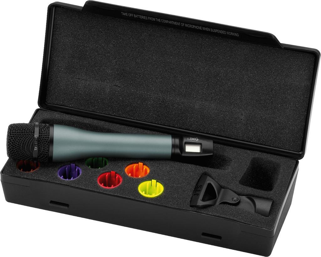 IMG STAGELINE TXS-871HT Handmikrofon mit integriertem Multi-Frequenz-Sender, 863-865 MHz
