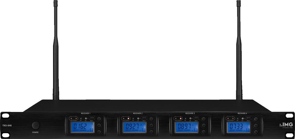 IMG STAGELINE TXS-646 4-Kanal-Multi-Frequenz-Empfängereinheit, 672,000-696,975 MHz