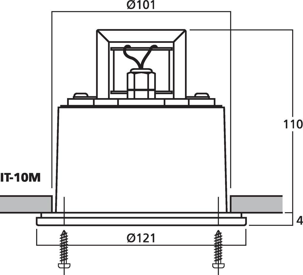 MONACOR IT-10M Einbau-Druckkammerlautsprecher (Musikhorn) mit Breitbandlautsprecher