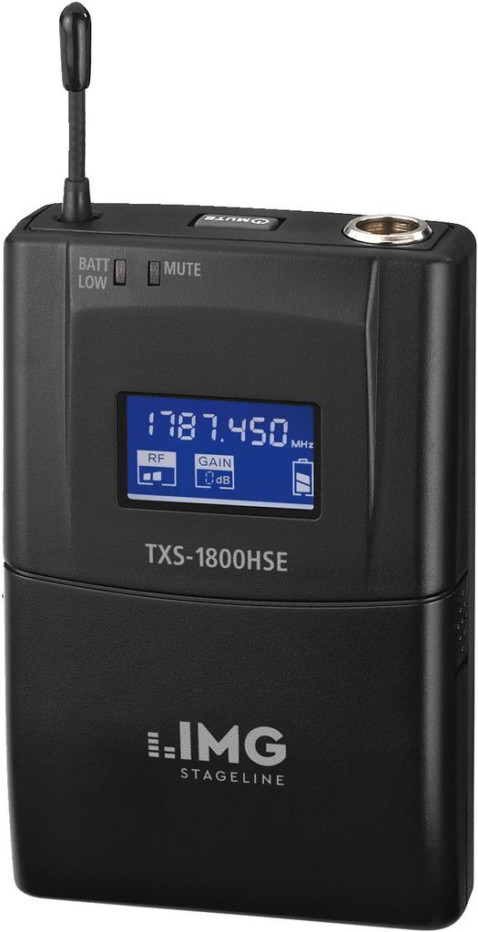 IMG STAGELINE TXS-1800HSE Multi-Frequenz-Taschensender, 1,8 GHz