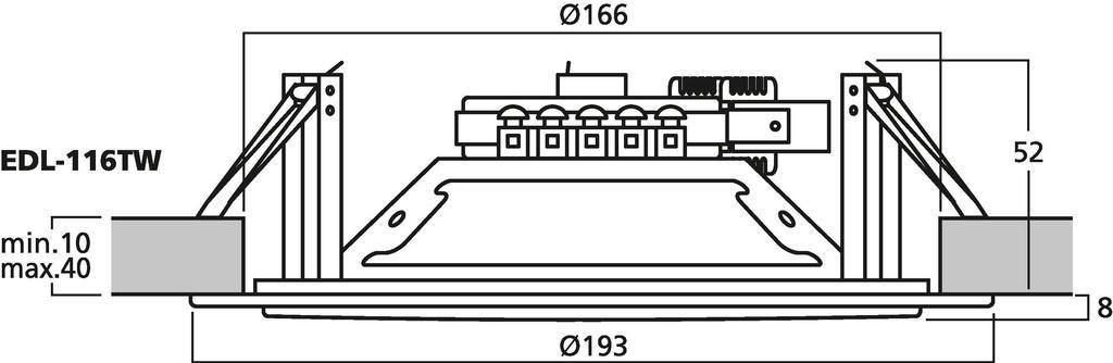 MONACOR EDL-116TW ELA-Deckenlautsprecher, 100 V