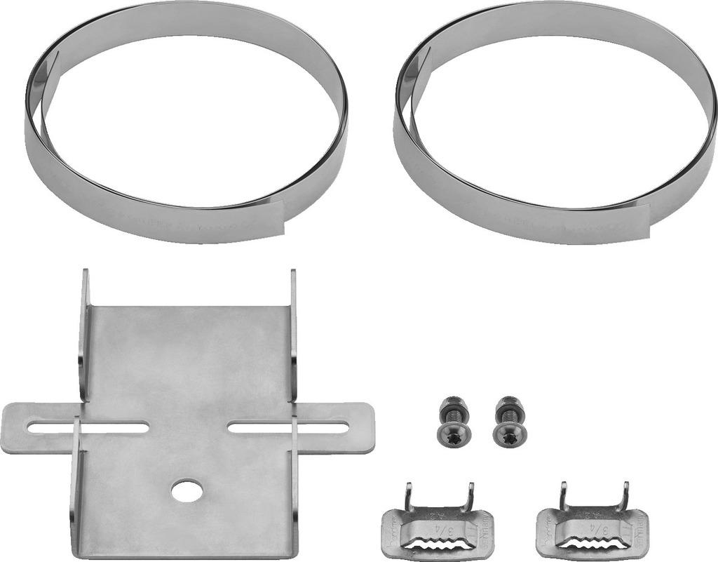 MONACOR ITH-300 Masthalterungsset für Druckkammerlautsprecher oder Kameras, V2A