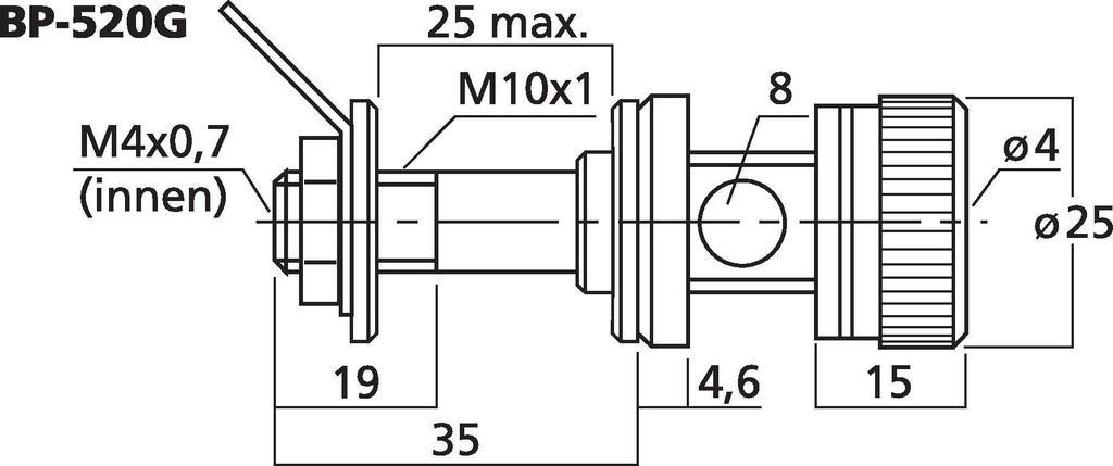MONACOR BP-520G High-End-LS-Polklemmen-Paar