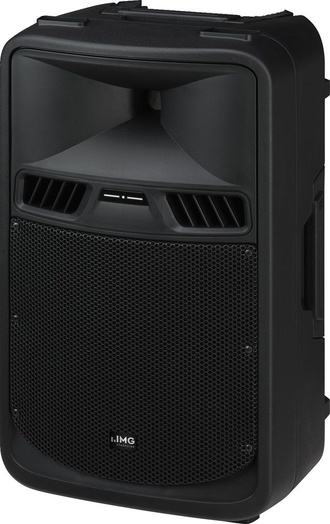 IMG STAGELINE PAK-410 Aktive Power-PA-Lautsprecherbox mit 2-Kanal-Verstärker, 500 W
