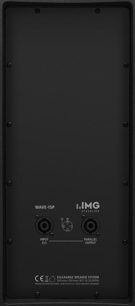 IMG STAGELINE WAVE-15P Passive Fullrange-Lautsprecherbox, 500 W, 8 Ω