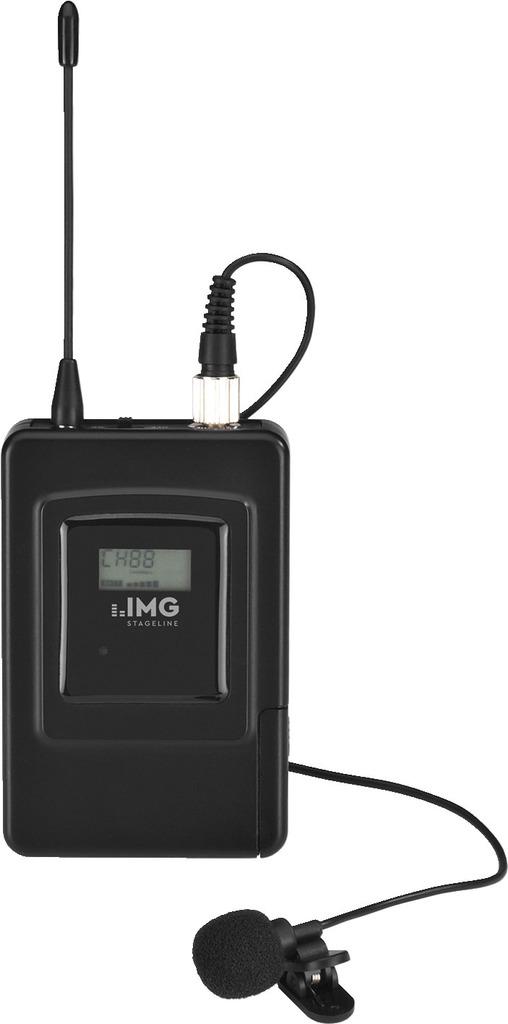 IMG STAGELINE TXS-707LT Multi-Frequenz-Krawattenmikrofon-Sender, 667,000-691,750 MHz