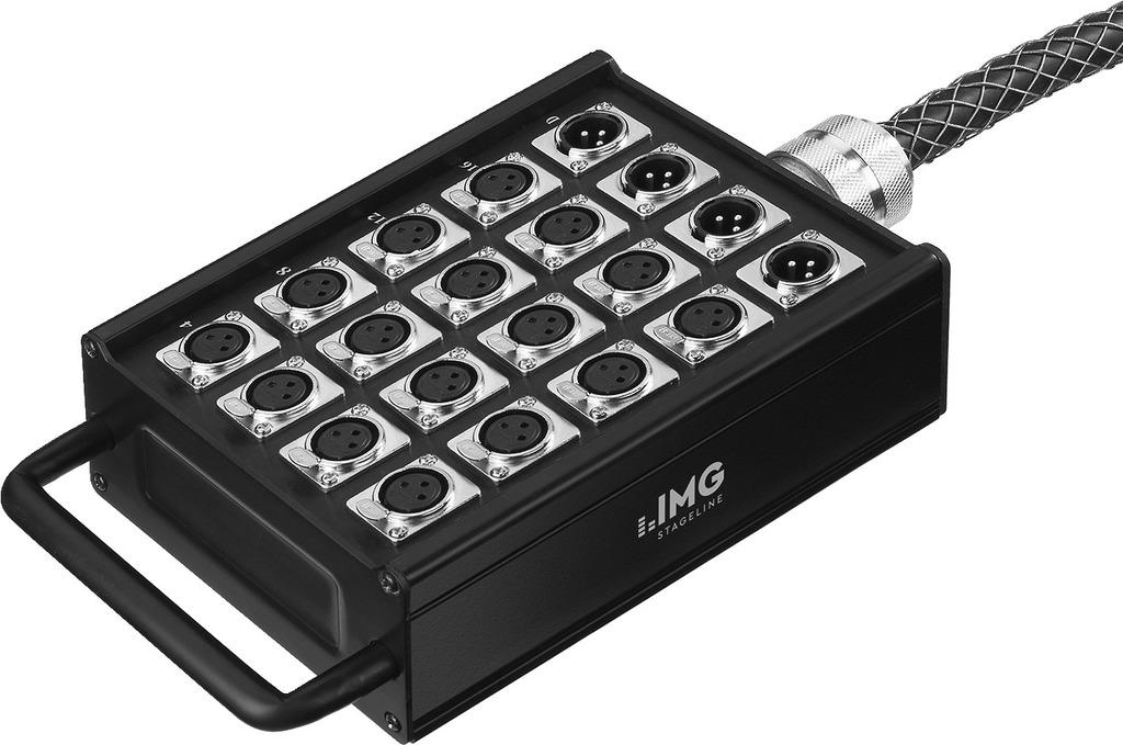 IMG STAGELINE STB-1604 Professionelle Stage-Box, 16 Eingänge, 4 Ausgänge